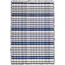 Guilford Navy Woven Cotton Rug