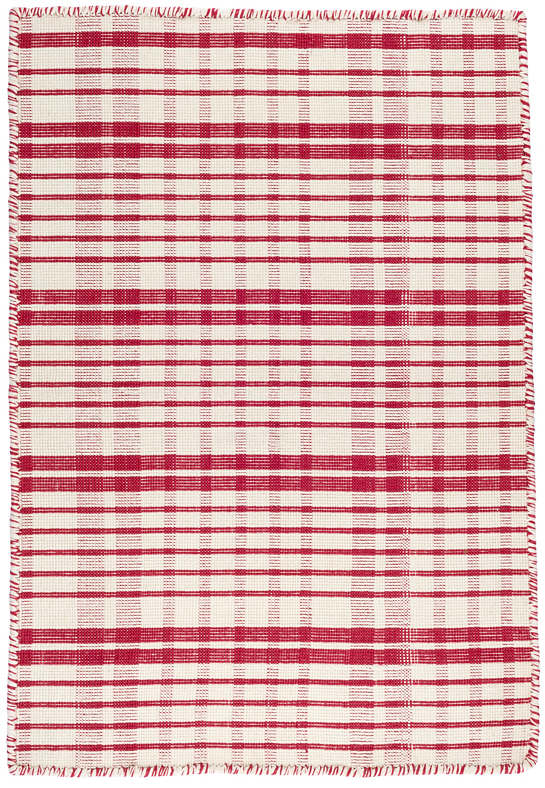 Guilford Red Woven Cotton Rug