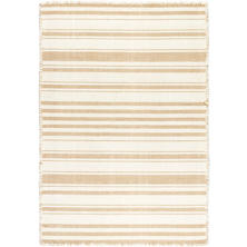 Hampshire Stripe Wheat Woven Cotton Rug