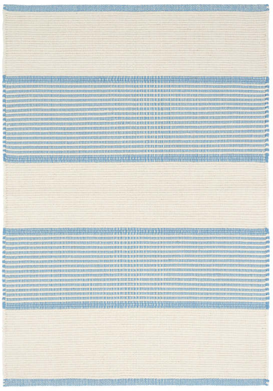 La Mirada Asiatic Blue Woven Cotton Rug