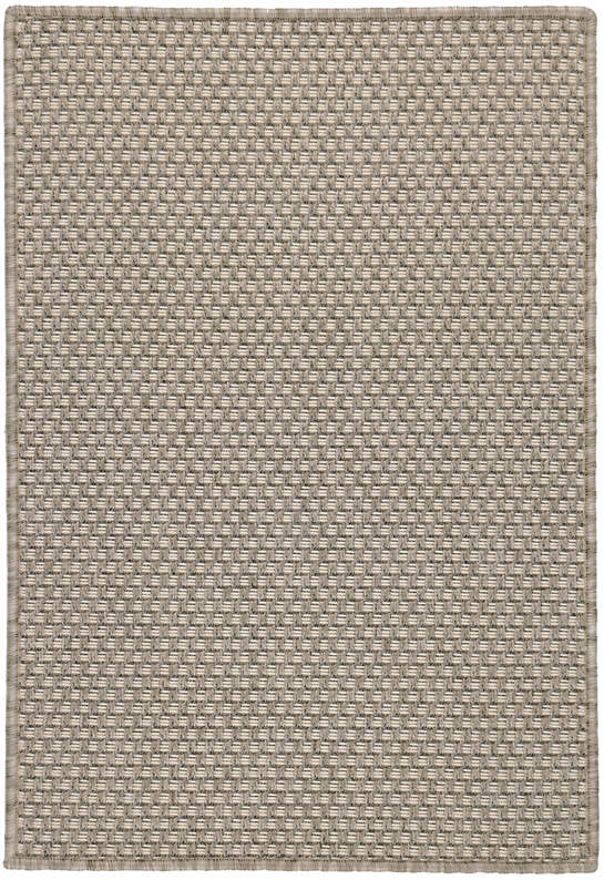 Laurel Ivory Indoor/Outdoor Custom Rug With Attached Rug Pad