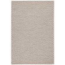Laurel Platinum Indoor/Outdoor Custom Rug With Attached Rug Pad