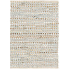 Leather Rag Sky Woven Leather Rug