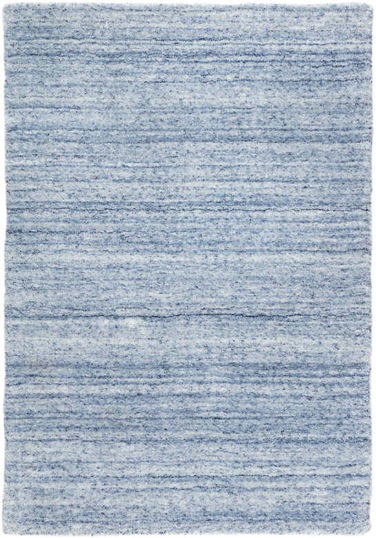 Nordic Blue Loom Knotted Rug