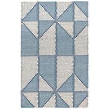Ojai Blue Loom Knotted Cotton Rug