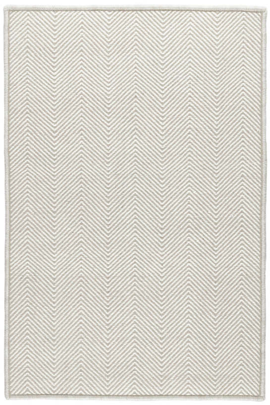 Batiste Grey Woven Wool Custom Rug With Attached Rug Pad