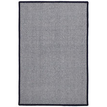 Batiste Navy Woven Wool Custom Rug With Attached Rug Pad