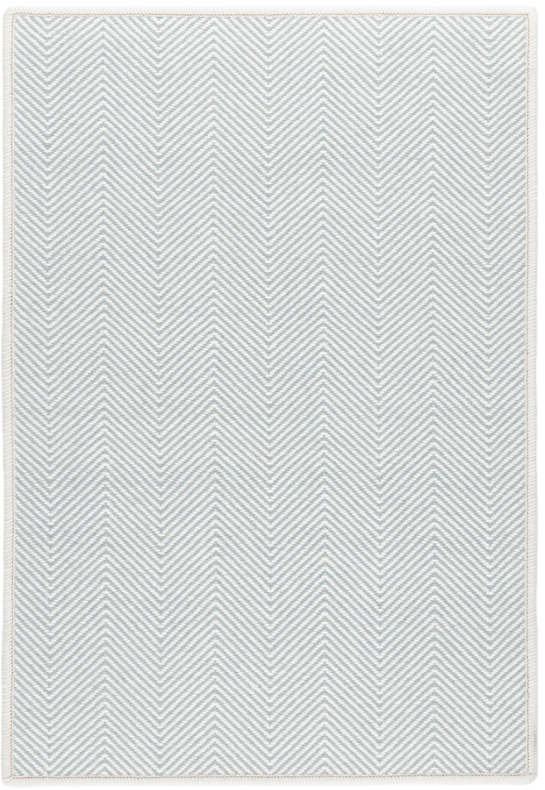 Batiste Sky Woven Wool Custom Rug With Attached Rug Pad