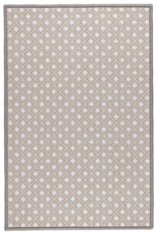 Bayberry Beige Woven Wool Custom Rug With Attached Rug Pad