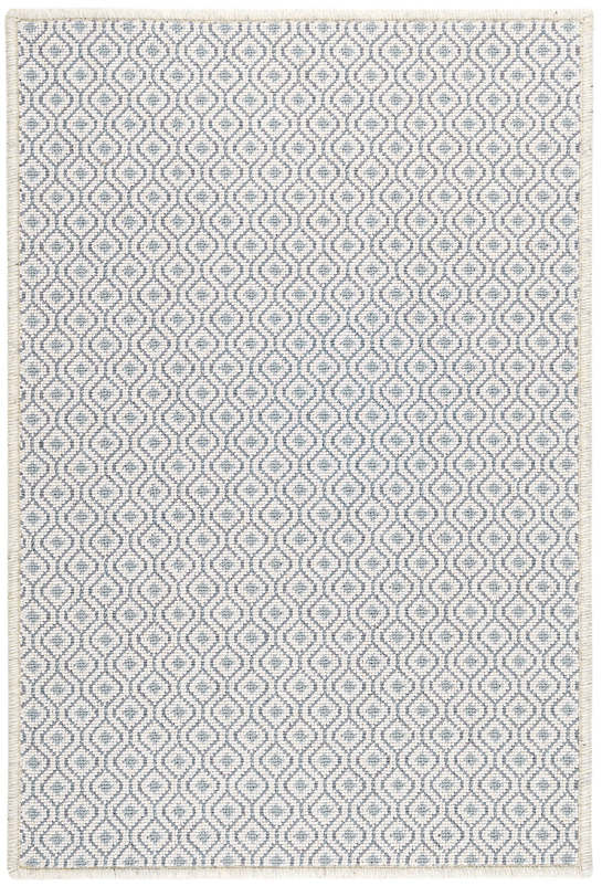 Bayberry Ivory/Denim Woven Wool Custom Rug