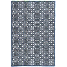 Bayberry Navy Woven Wool Custom Rug With Attached Rug Pad