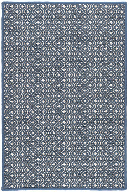 Bayberry Navy Woven Wool Custom Rug