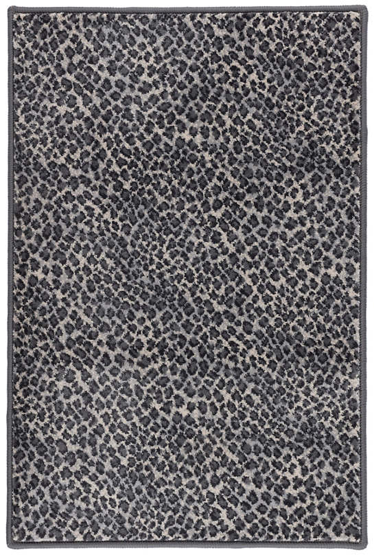 Cheetah Shale Woven Custom Rug With Attached Rug Pad