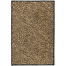 Cheetah Tan Woven Custom Rug With Attached Rug Pad