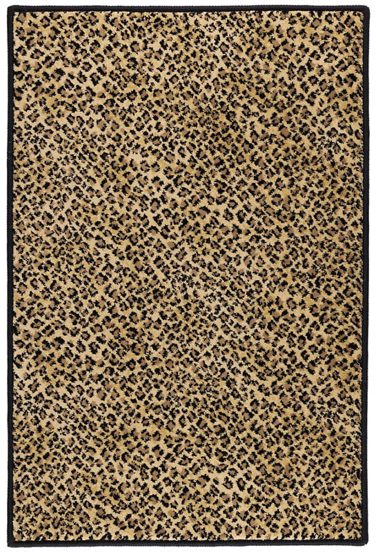 Cheetah Tan Woven Custom Rug