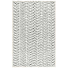 Cora Ivory/Black Woven Wool Custom Rug With Attached Rug Pad