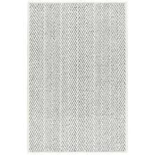 Cora Ivory/Black Woven Wool Custom Rug