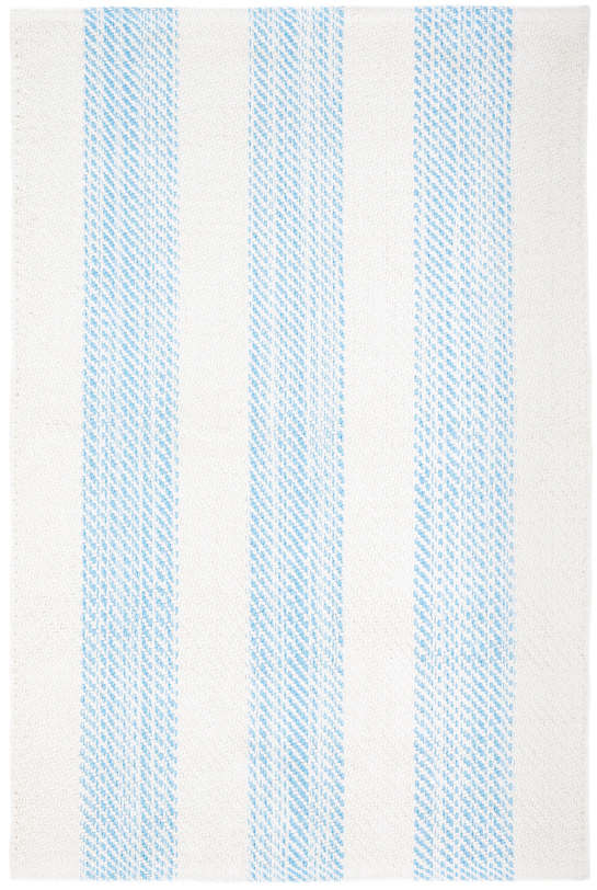 Cruise Stripe Blue Woven Cotton Rug