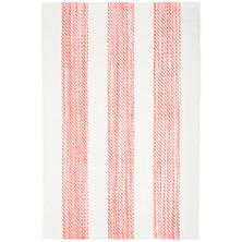 Cruise Stripe Coral Woven Cotton Rug