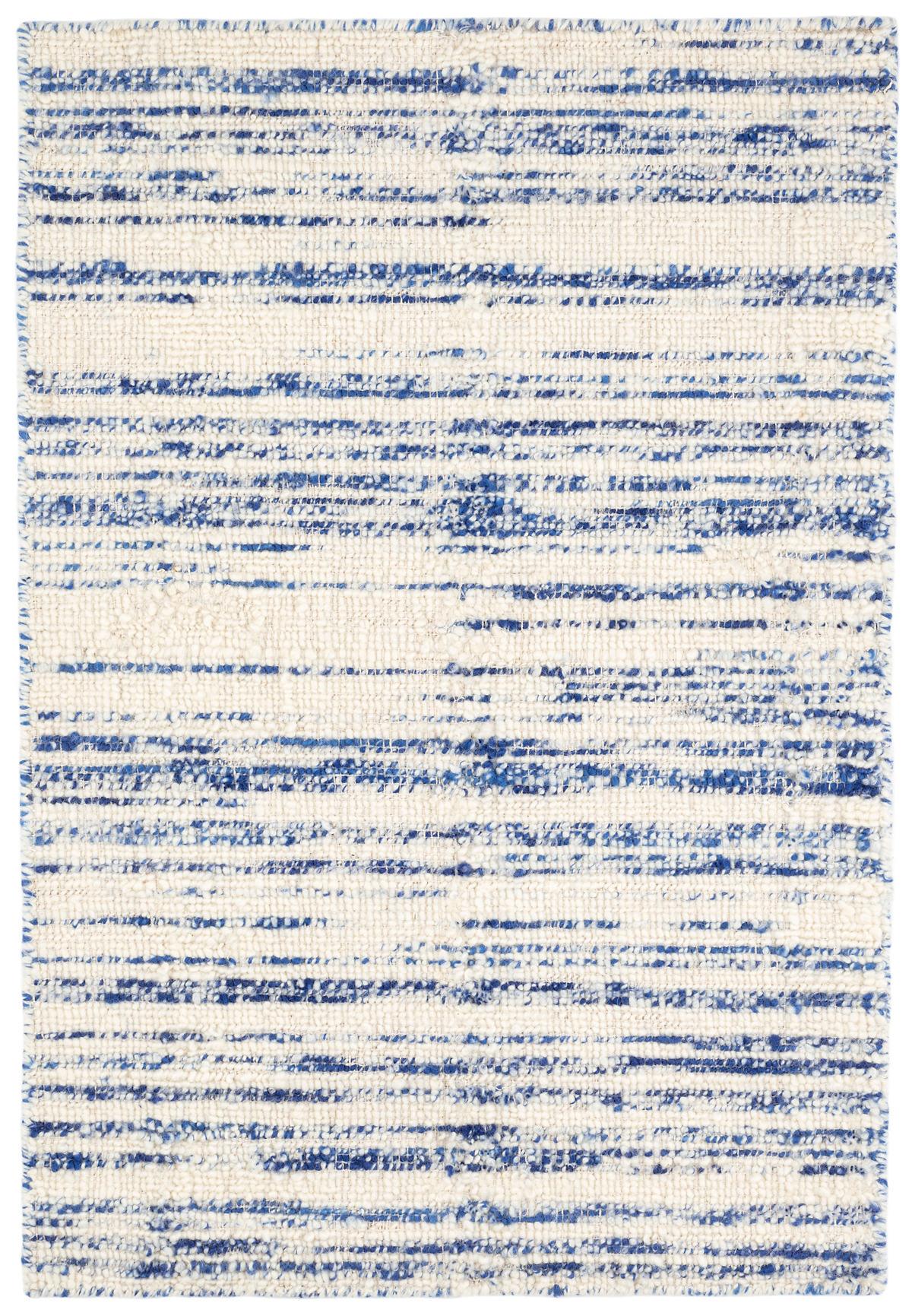 Echo Blue Loom Knotted Wool Rug