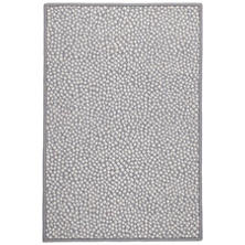 Fleck Grey Woven Wool Custom Rug With Attached Rug Pad