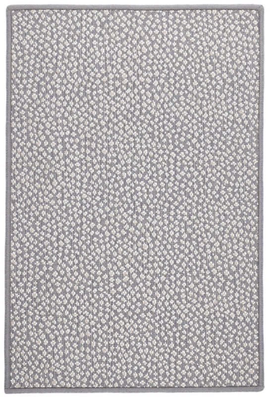Fleck Grey Woven Wool Custom Rug