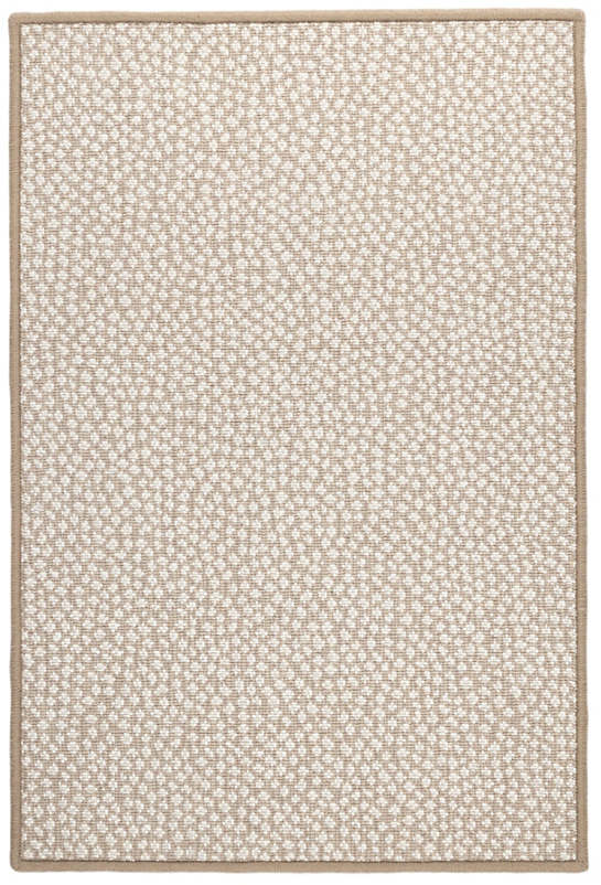 Fleck Neutral Woven Wool Custom Rug With Attached Rug Pad