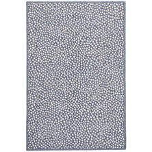 Fleck Slate Woven Wool Custom Rug With Attached Rug Pad