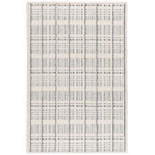 Fraiser Ivory/Grey Woven Wool Custom Rug With Attached Rug Pad