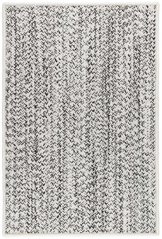 Lucy Black Woven Custom Rug With Attached Rug Pad
