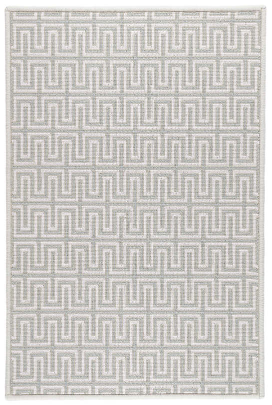Maze Pale Blue Woven Wool Custom Rug With Attached Rug Pad