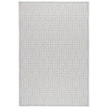 Maze Platinum Woven Wool Custom Rug