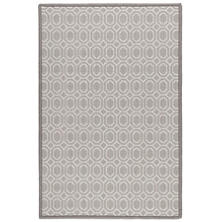 Optic Pearl Grey Woven Wool Custom Rug
