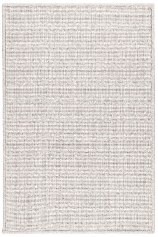 Optic Platinum Woven Wool Custom Rug With Attached Rug Pad