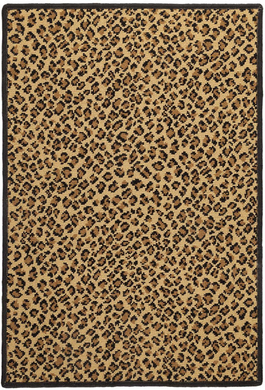 Panthera Brown Woven Wool Custom Rug With Attached Rug Pad