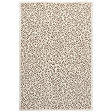 Panthera Neutral Woven Wool Custom Rug With Attached Rug Pad