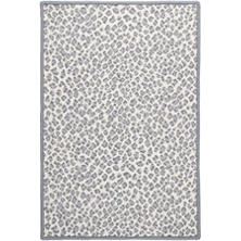 Panthera Slate Woven Wool Custom Rug With Attached Rug Pad