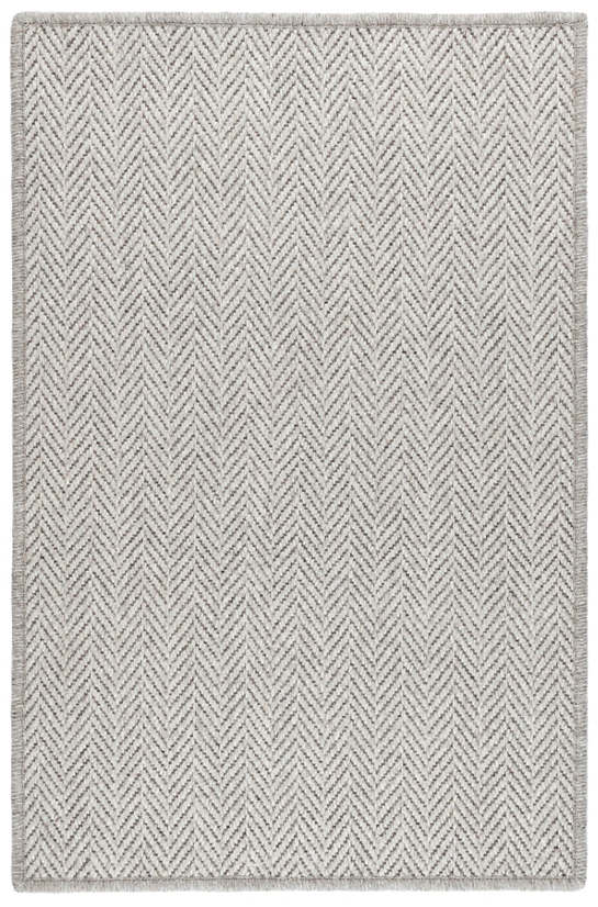 Piper Grey Woven Wool Custom Rug With Attached Rug Pad