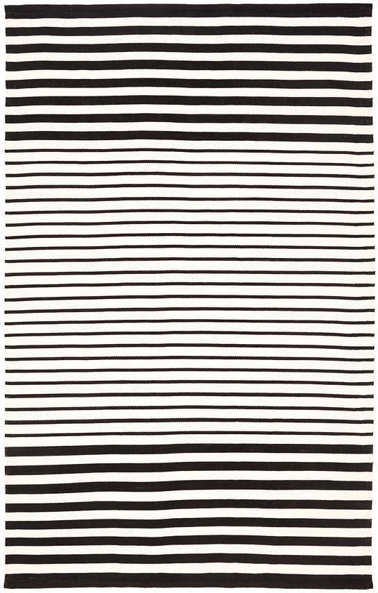 Port Stripe Black Indoor/Outdoor Rug