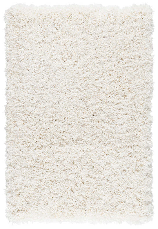 Sadie Ivory Woven Custom Rug With Attached Rug Pad