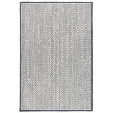 Shuttle Grey/Ivory Woven Wool Custom Rug With Attached Rug Pad