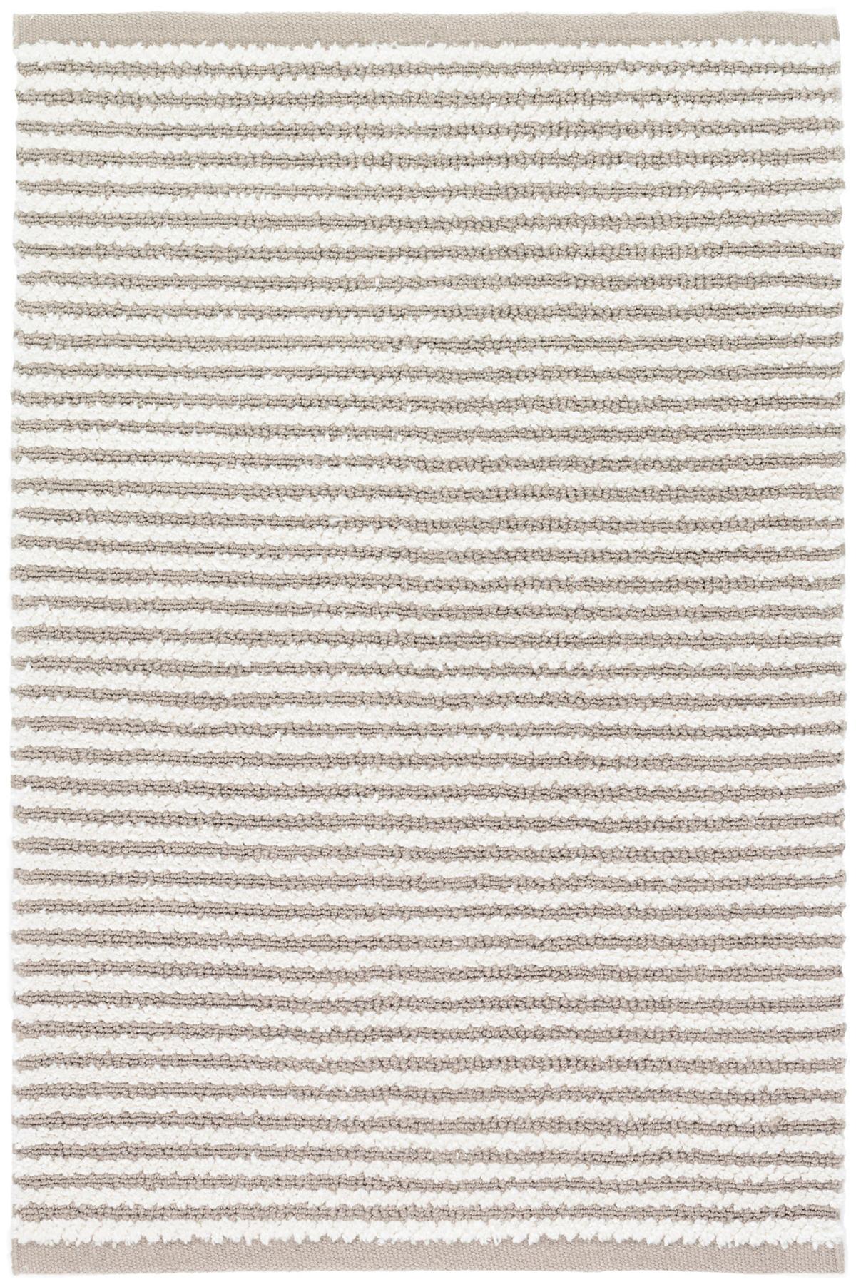 Shear Stripe Grey Woven Rug