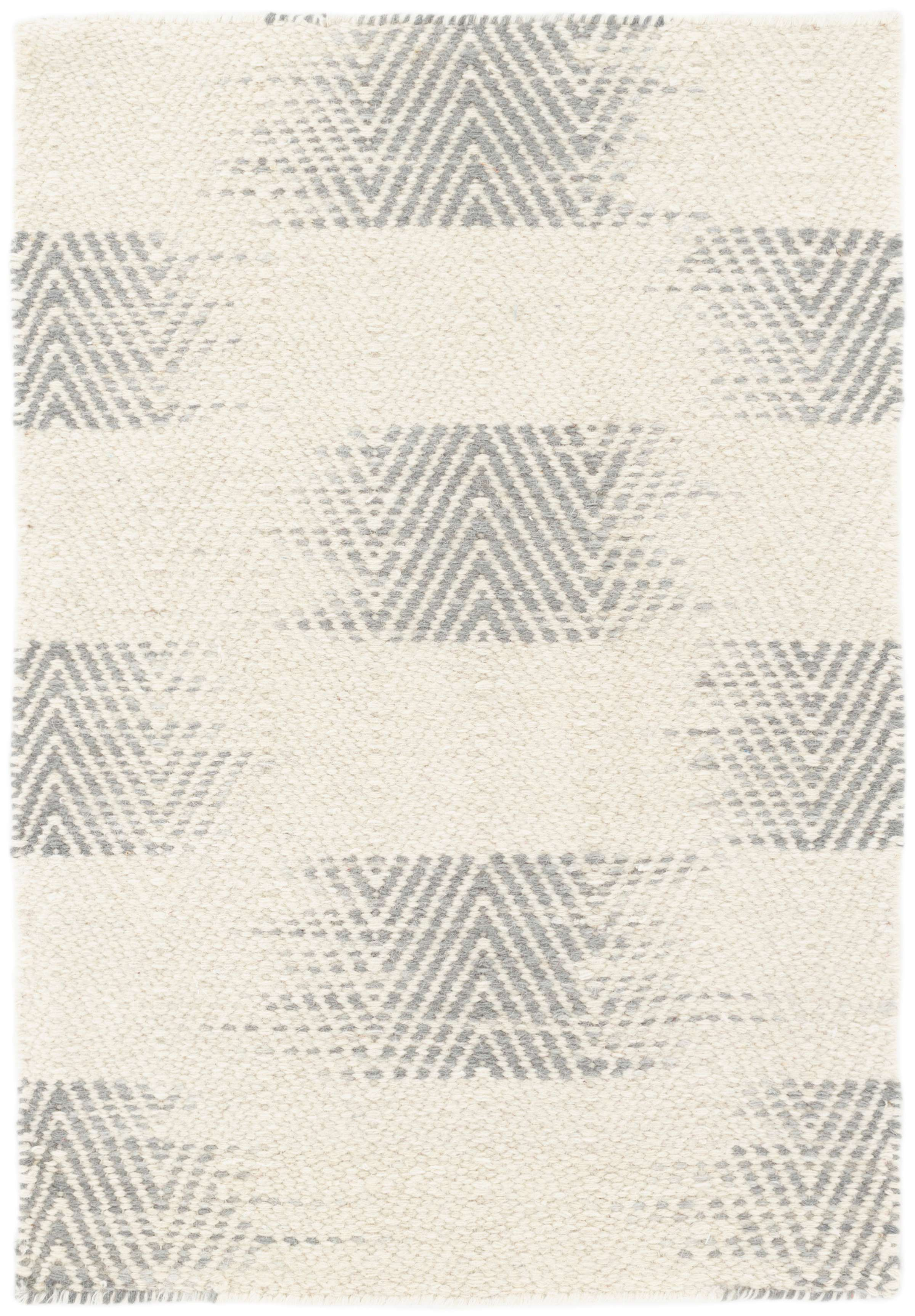 Tansy Grey Woven Wool Rug
