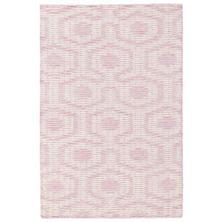 Tika Pink Woven Wool Rug
