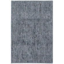 Willow Indigo Woven Custom Rug With Attached Rug Pad