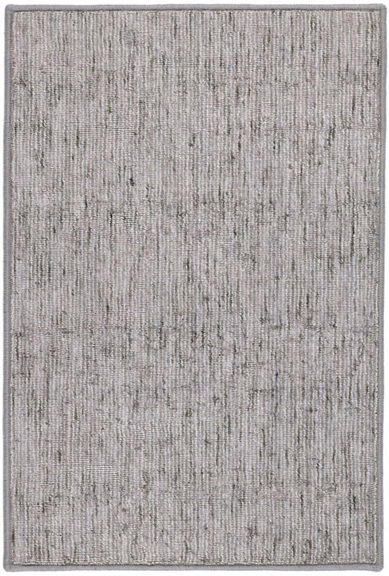 Willow Slate Woven Custom Rug With Attached Rug Pad