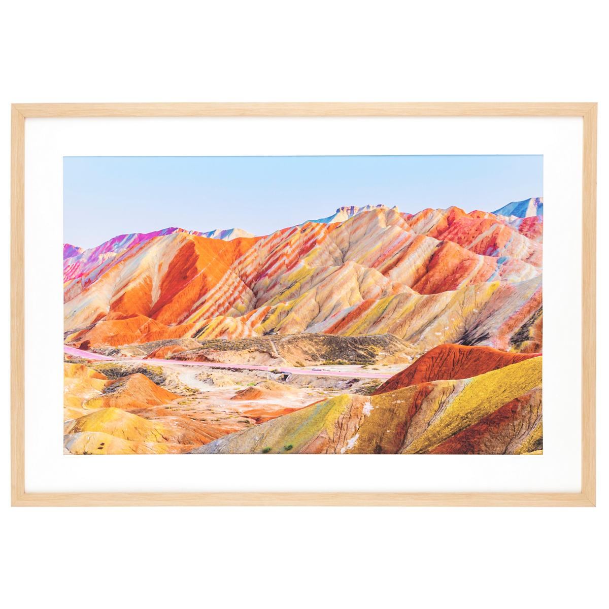 Rainbow Mountains Wall Art