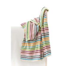 Rainbow Stripe Woven Cotton Throw