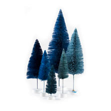 Blue Rainbow Trees/Set Of 6