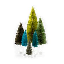Green Rainbow Trees/Set of 6